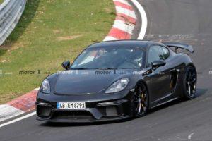 Porsche 718 Cayman GT4 przyłapane na Nürburgringu podczas testów