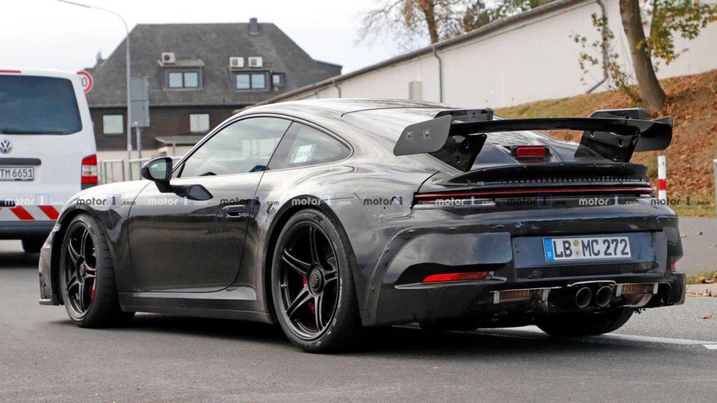Nowe Porsche 911 GT3 podczas testów na Nürburgring