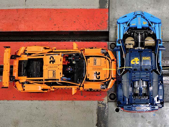 Bugatti Chiron i Porsche 911 GT3 podczas testu zderzeniowego