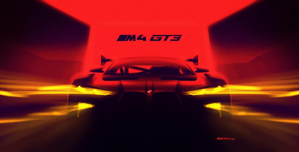 BMW M4 GT3 – teaser zdradza wygląd seryjnego M4