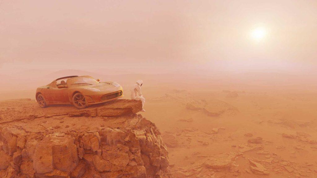 Tesla dotarła na Marsa i zaczyna kolonizację planety