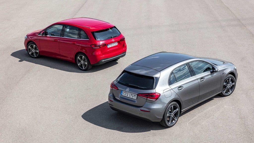 Mercedes prezentuje hybrydowe odmiany swoich kompaktowych modeli
