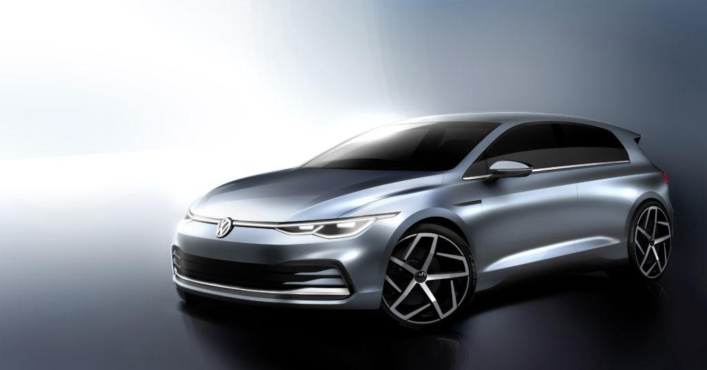 Golf MK8 na oficjalnych szkicach projektowych Volkswagena