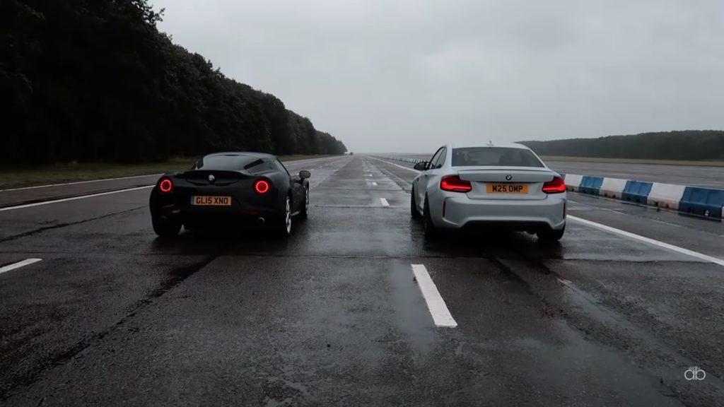BMW M2 Competition kontra Alfa Romeo 4C – obejrzyj starcie mocy z masą
