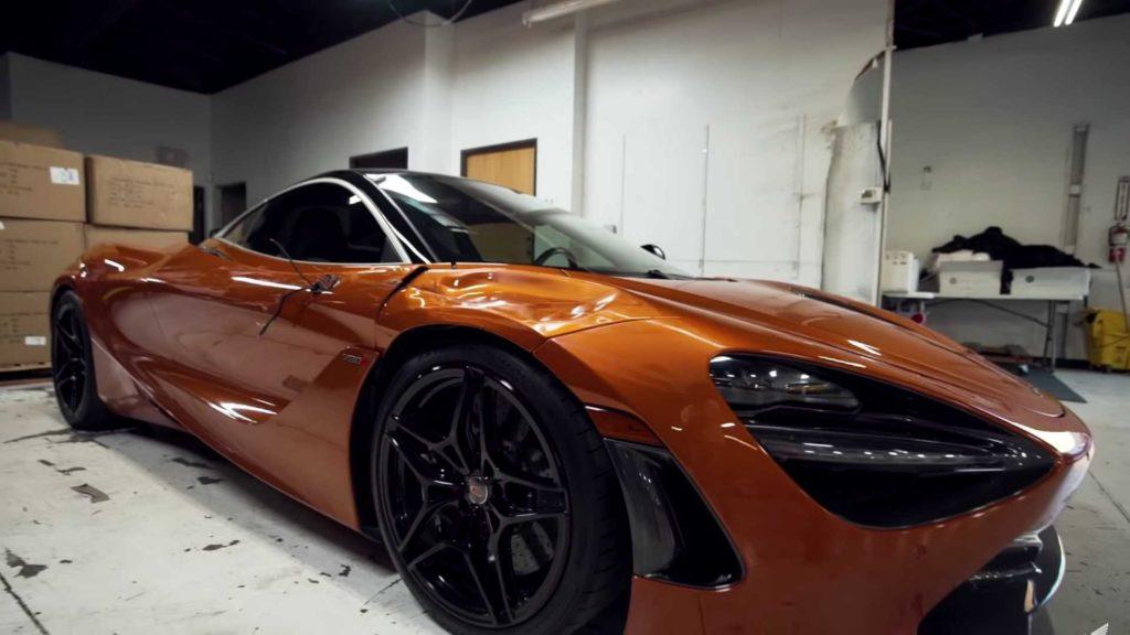 Zabawa po pijaku w LV skończyła się uszkodzonym McLarenem 720S