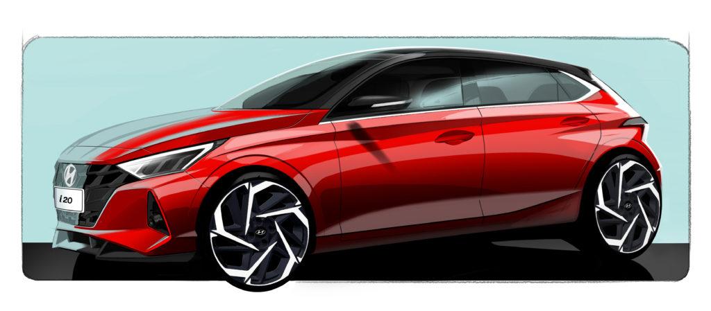 Hyundai i20 trzeciej generacji został pokazany na szkicach projektowych