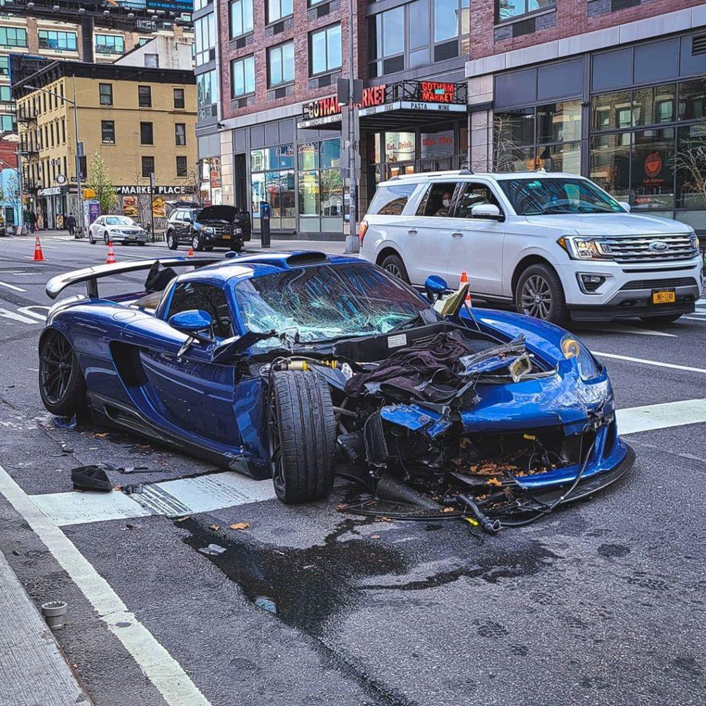 Gemballa Mirage GT za 3 miliony złotych rozwalona w Nowym Jorku