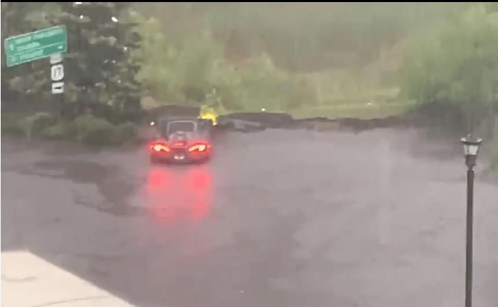 McLaren 600LT topi się w wodzie i finalnie parkuje na trawniku