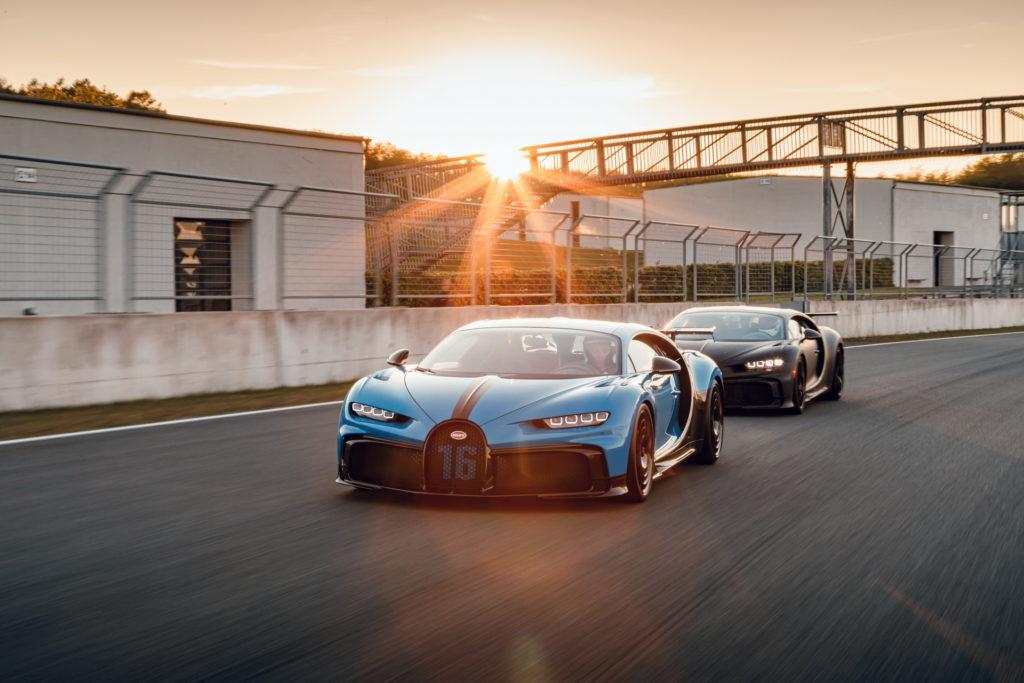 Testy Bugatti Chiron Pur Sport na niemieckim torze Bilster Berg