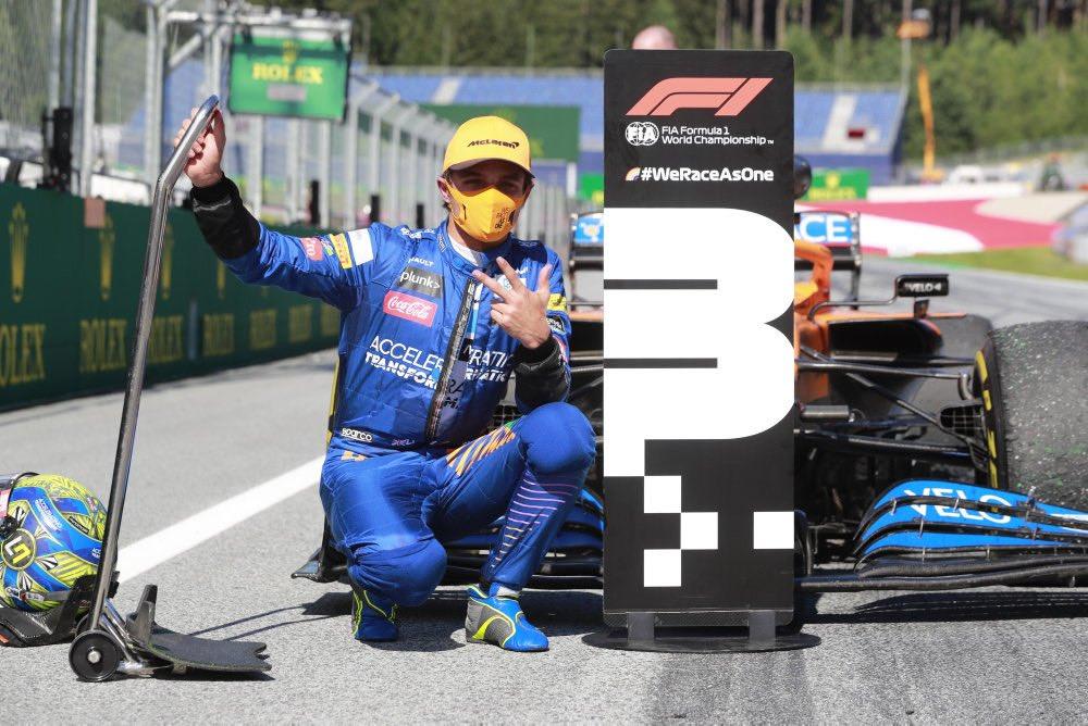 Lando Norris zachwycony z pierwszego w karierze podium
