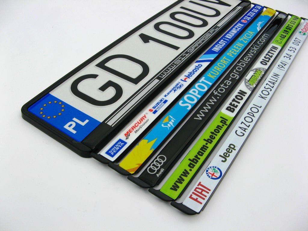 tablic rejestracyjnych