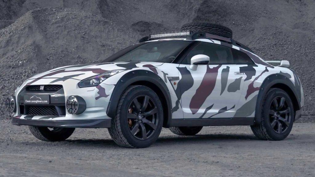 Przerobiony Nissan GT-R, który nie boi się taplania w błocie