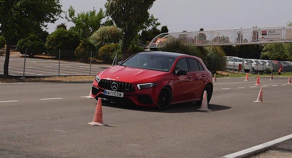 Nieudana próba testu łosia w wykonaniu Mercedesa AMG A45s
