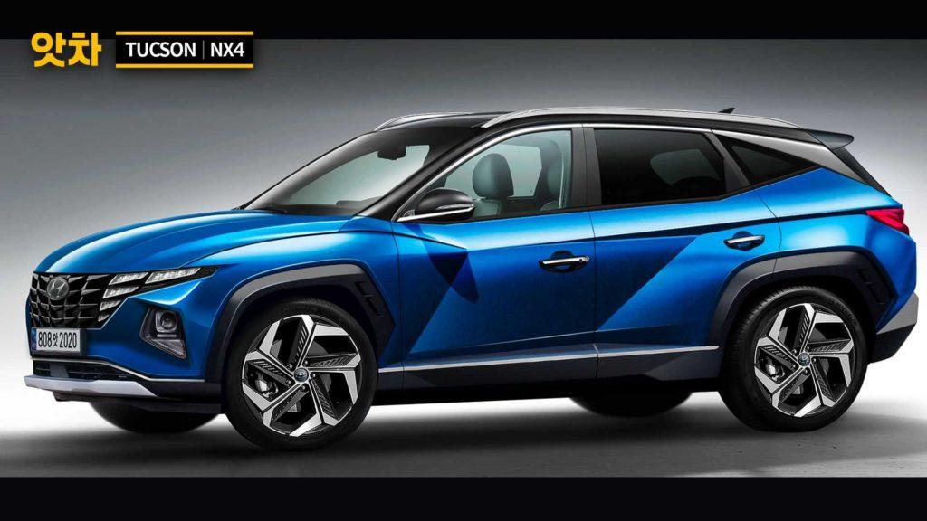 Hyundai Tucson 2021 na nieoficjalnej wizualizacji – sporo zmian