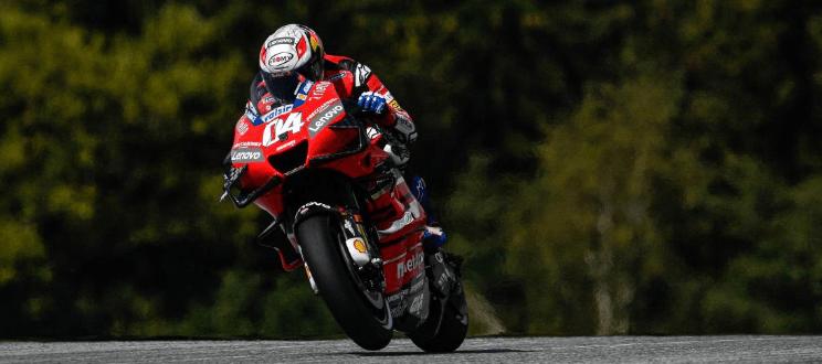 Dovizioso wygrywa GP Austrii, potężna wywrotka Zarco i Morbidellego