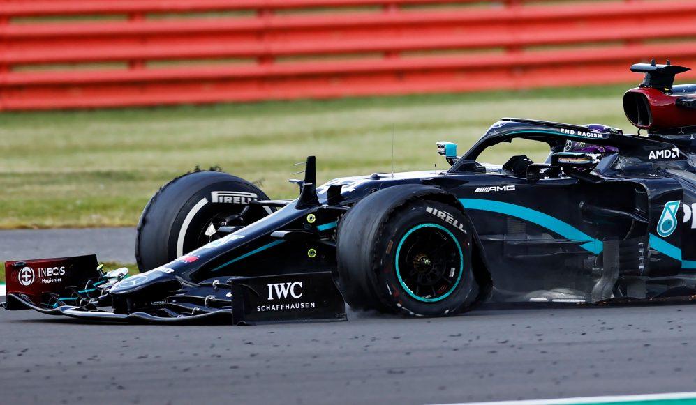 Złapał gumę, ale wygrał – Lewis Hamilton zwycięzcą GP Wielkiej Brytanii