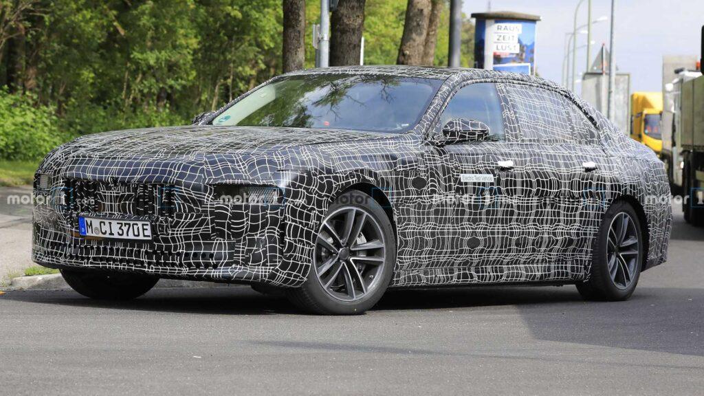 Kolejne zdjęcia szpiegowskie BMW serii 7 w wersji elektrycznej