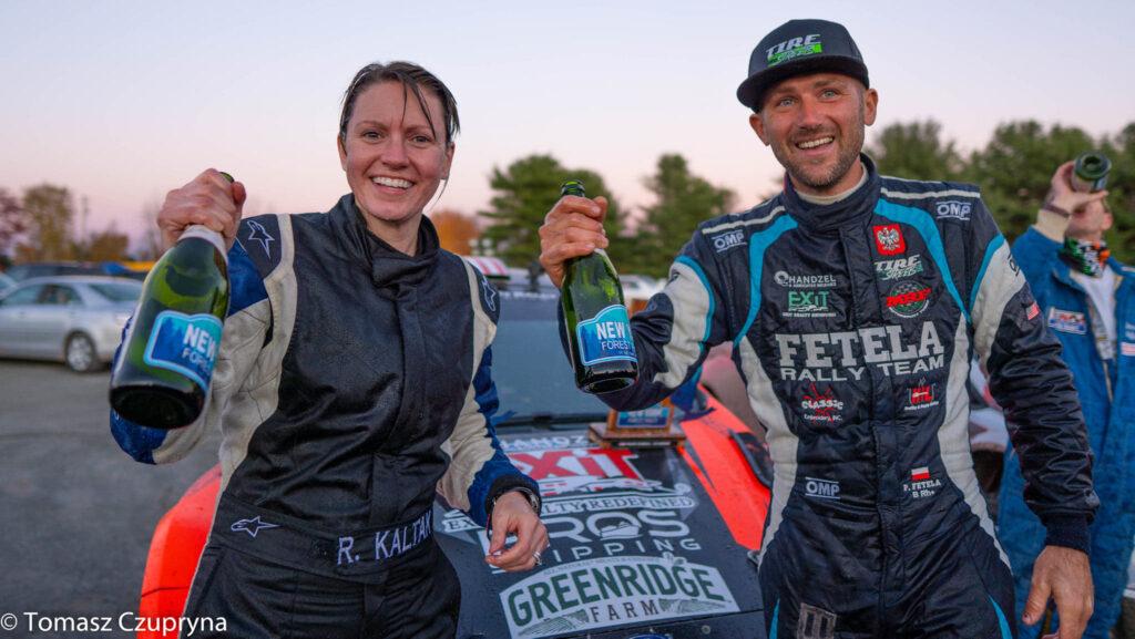 Piotr Fetela na podium w New York Forest Rally 2020!
