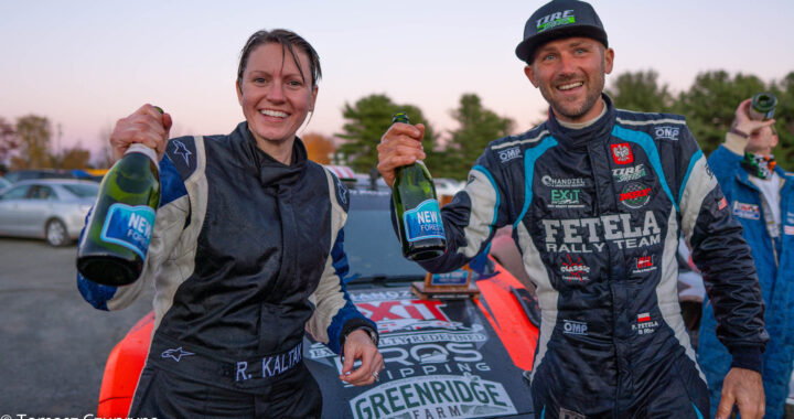 Piotr Fetela na podium w New York Forest Rally 2020!