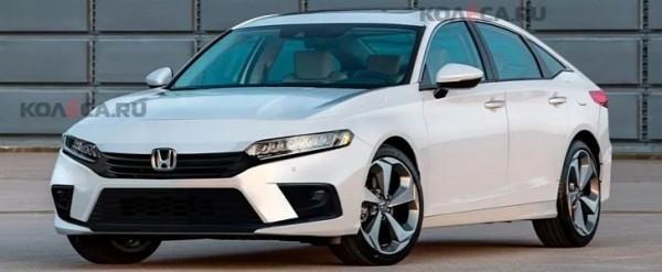 Honda Civic 2022 – powstał render na bazie szkiców patentowych