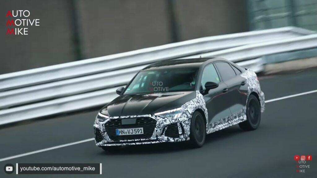 Nowe Audi RS3 zauważone podczas testów na Nurburgringu