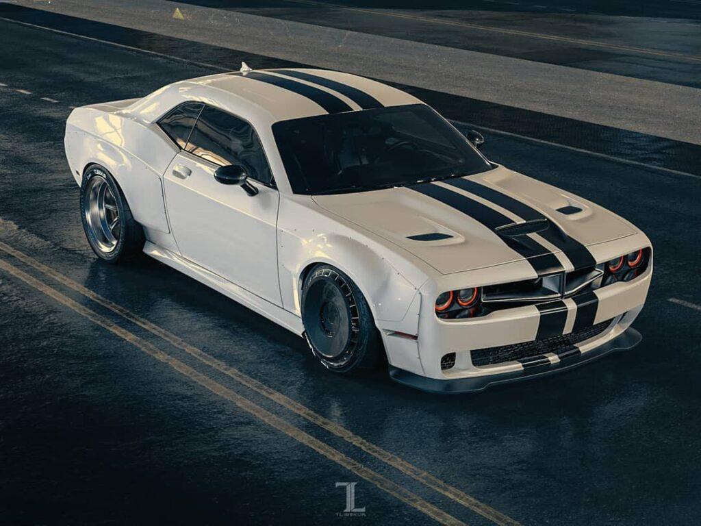 Dodge Challenger z poszerzeniem rodem z torów wyścigowych