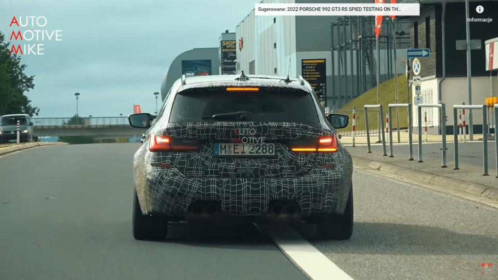 BMW testuje nowe M3 Touring jeżdżąc wokół toru Nurburgring