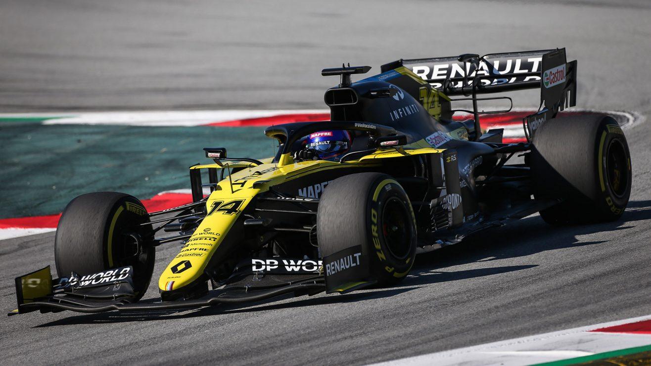 Fernando Alonso Renault 2020 test