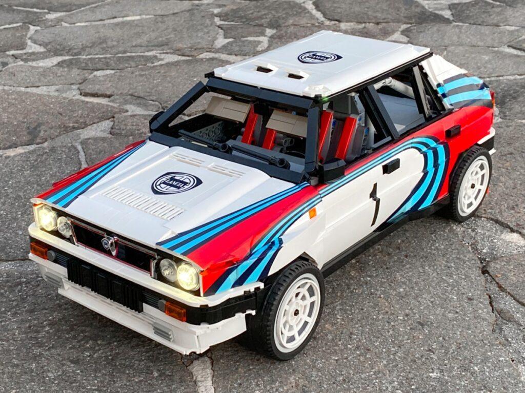 Lancia Delta Integrale w całości wykonana z klocków LEGO!