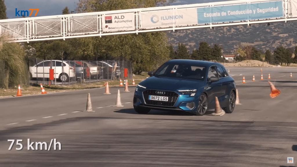 Nowe Audi A3 Sportback wypadło źle w teście łosia i go nie zaliczyło