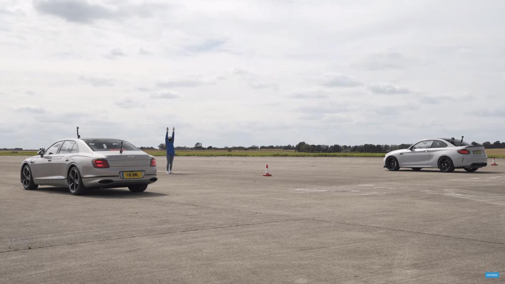 BMW M2 CS i Bentley Continental Flying Spur w nietypowym wyścigu