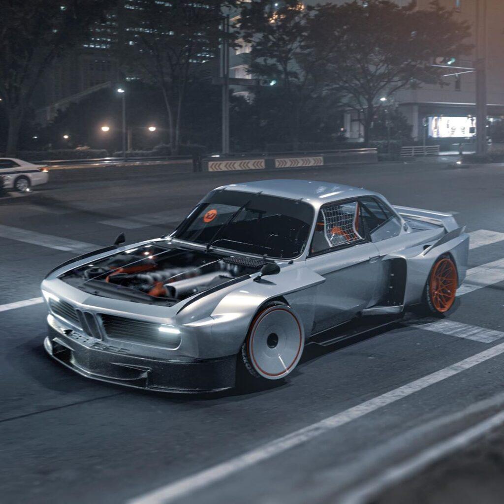 BMW 3.0 CSL, którego nie powstydziliby się twórcy Cyberpunk 2077!