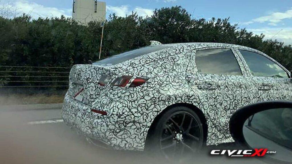 Honda Civic XI przyłapana na testach jako wersja Fastback