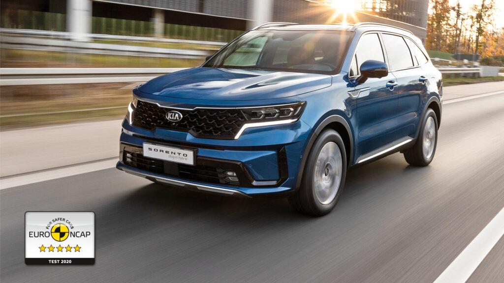 Nowa Kia Sorento zdobyła 5 gwiazdek w teście bezpieczeństwa Euro NCAP
