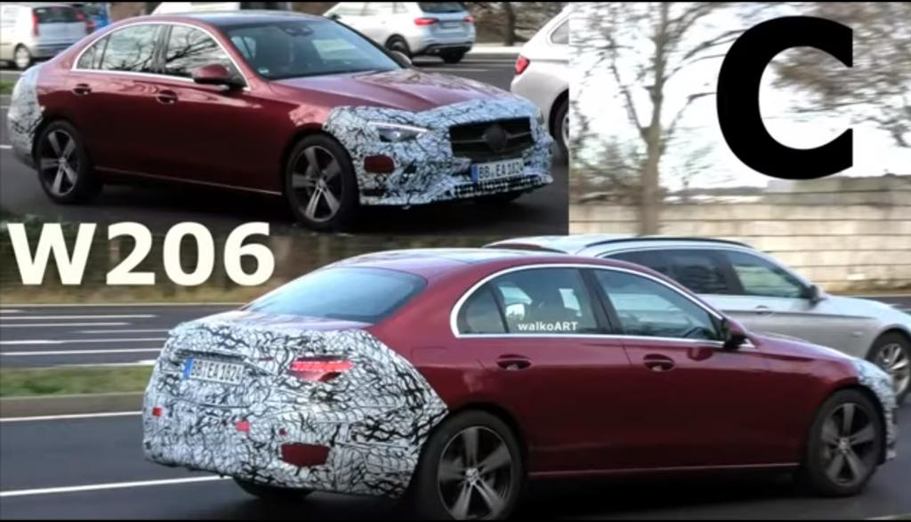 Nowy Mercedes klasy C zauważony w ciekawym kolorze podczas testów