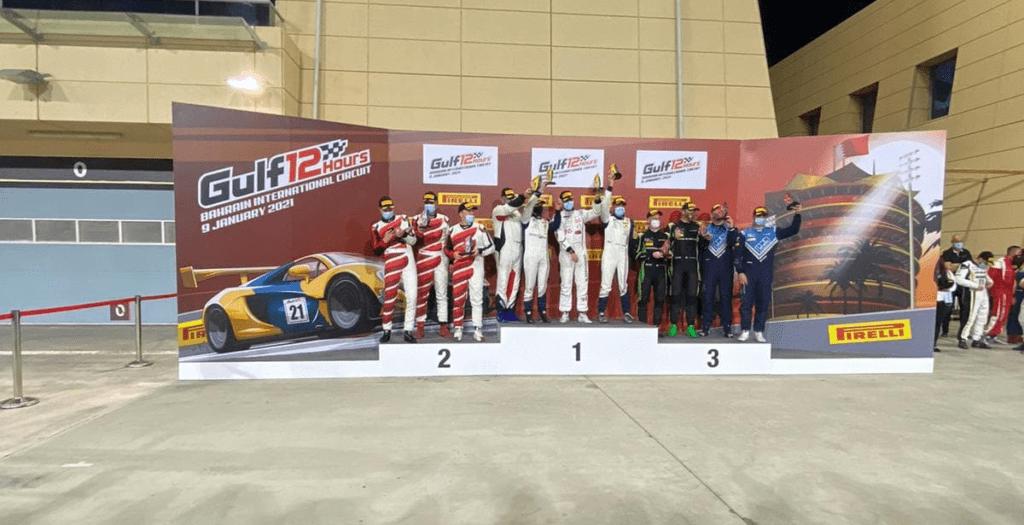 Ekipa Chodzeń/Chodzeń/Zamparini druga w klasie GT4 w Gulf 12 Hours