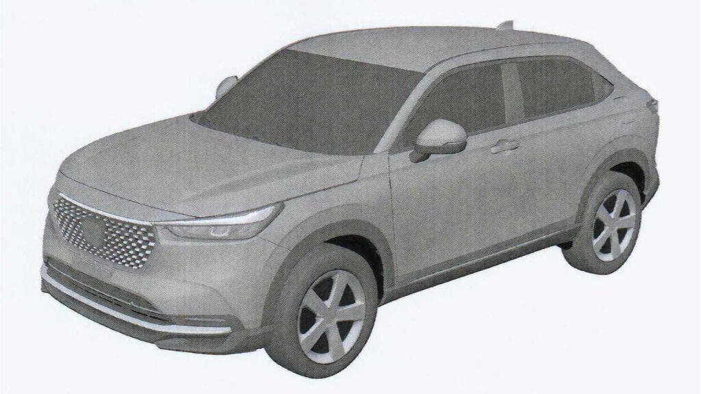 Honda HR-V 2022 – wyciekły szkice patentowe nowej generacji