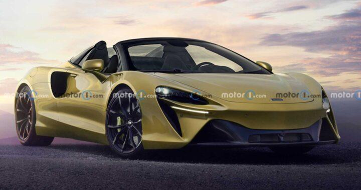 McLaren Artura w wersji Spider przedstawiony na nieoficjalnym renderze