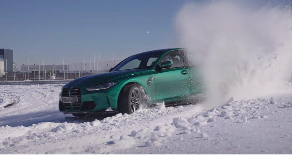BMW M3 testowane na zaśnieżonym torze w nowym spocie reklamowym