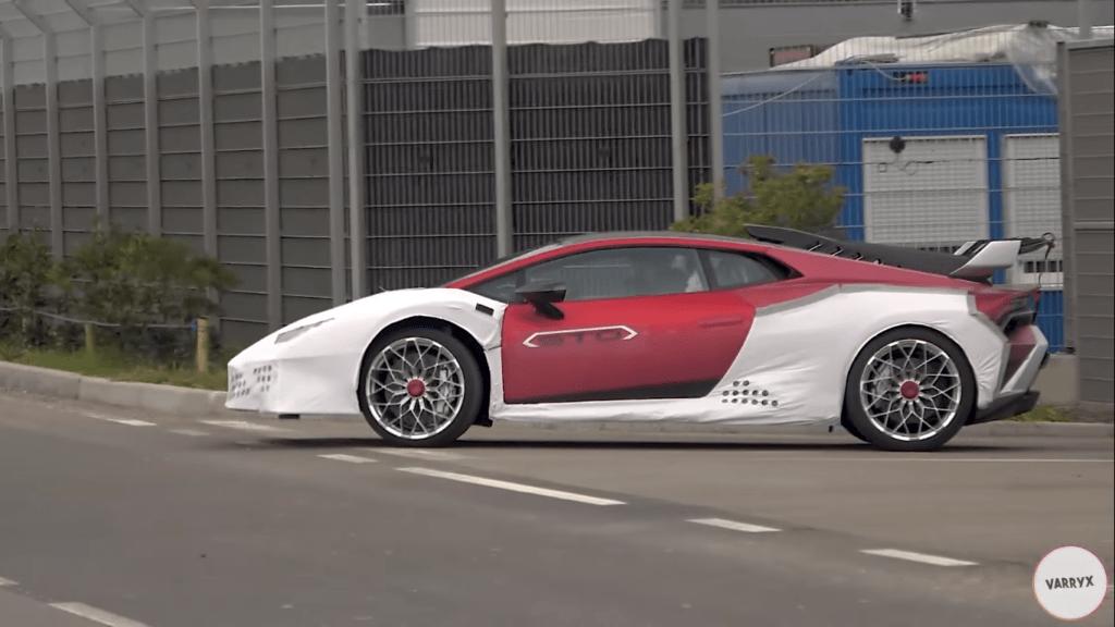 Lamborghini Huracán STO intensywnie testowany na drogach publicznych