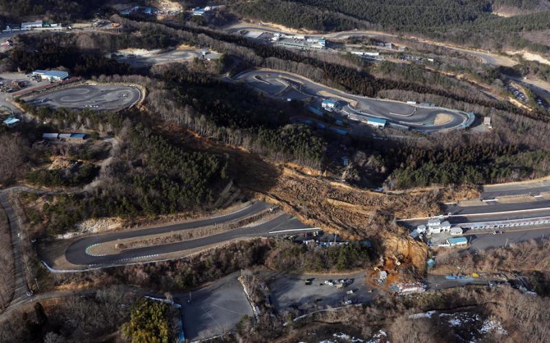 Ebisu Circuit w gruzach – potężne zniszczenia po trzęsieniu ziemi