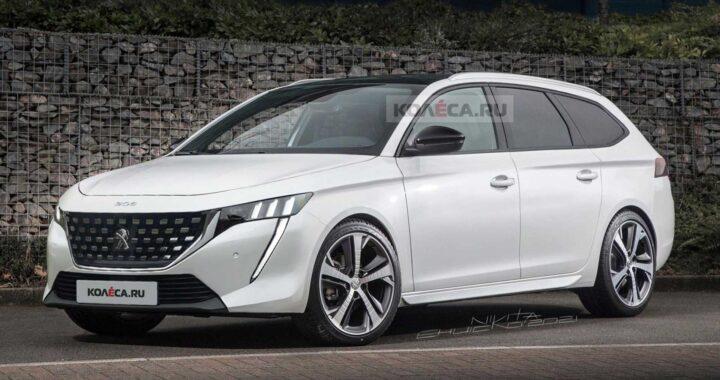 Nowy Peugeot 308 SW przedstawiony na najświeższych renderach