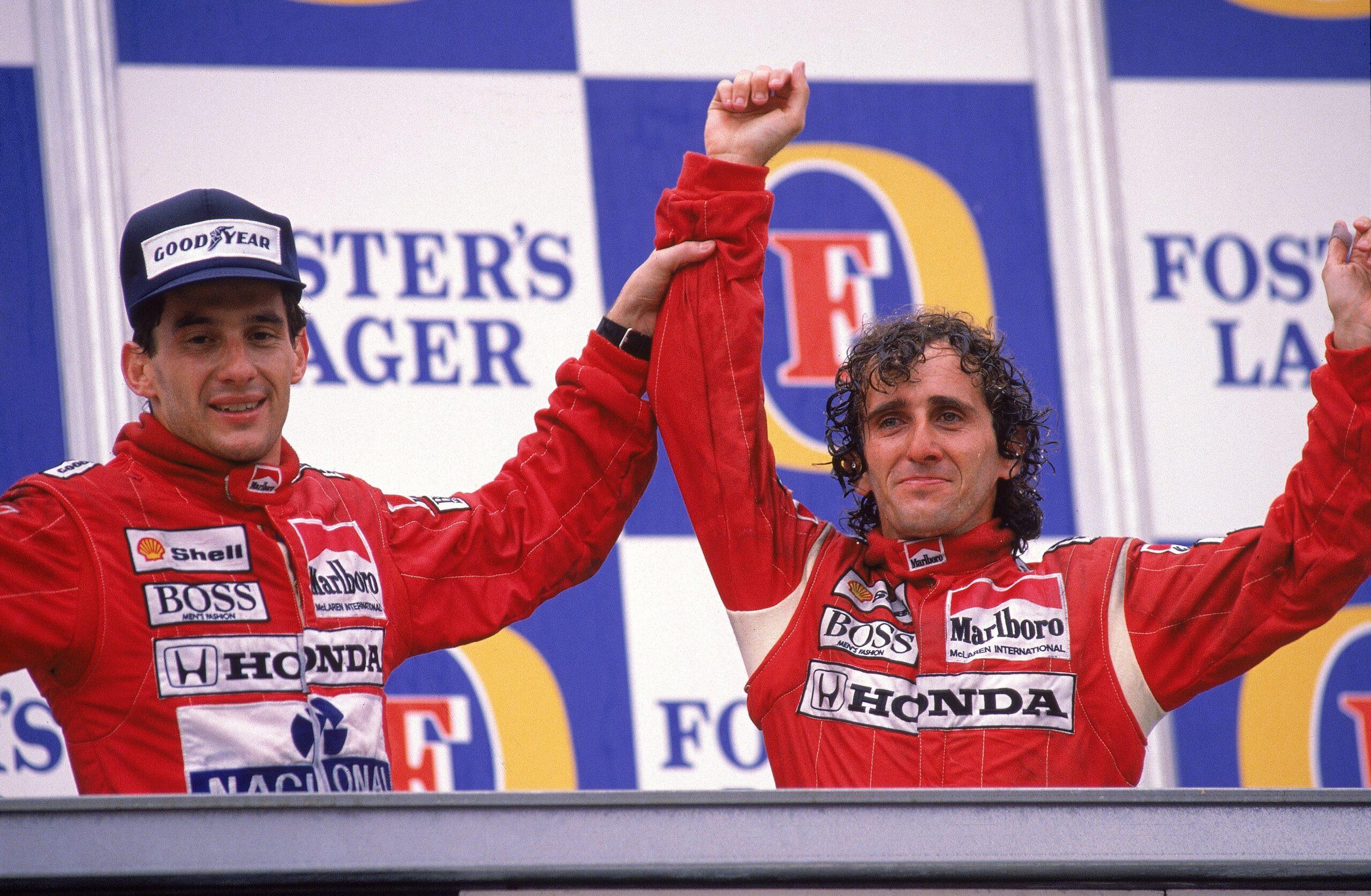 Ayrton Senna Alain Prost Formuła 1
