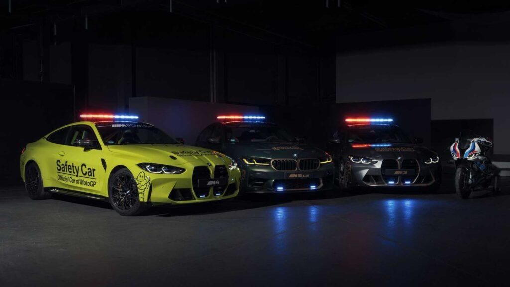 BMW prezentuje swoje samochody bezpieczeństwa w serii MotoGP