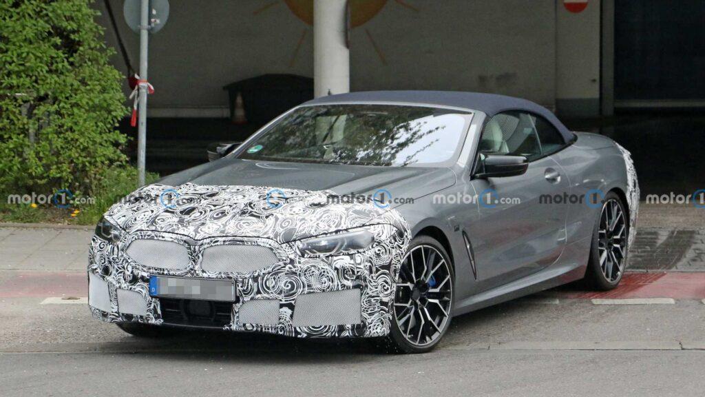 Zmodernizowane BMW serii 8 w wersji Cabrio zauważone podczas testów