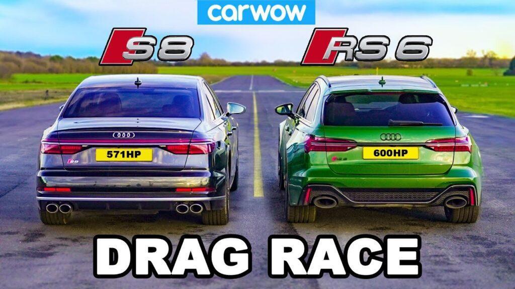 Czy superlimuzyna poradzi sobie z superkombi? Pojedynek Audi RS6 z Audi S8