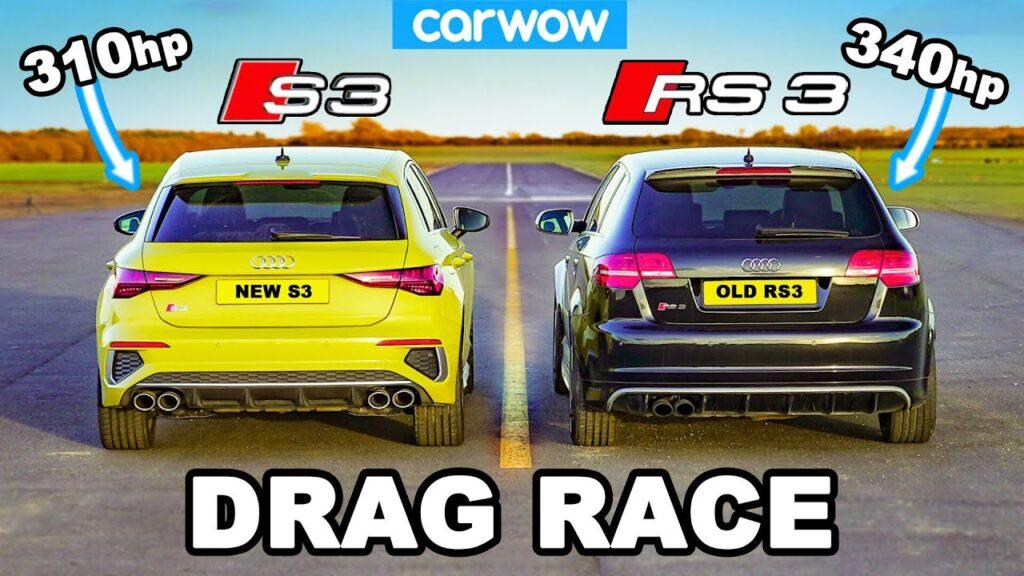 Najnowsze Audi S3 podejmuje pierwszą generację RS3 w kilku próbach porównawczych