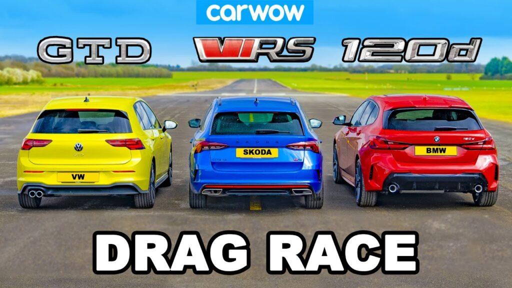 Volkswagen Golf GTD, Skoda Octavia RS oraz BMW 120d w pojedynku Diesli