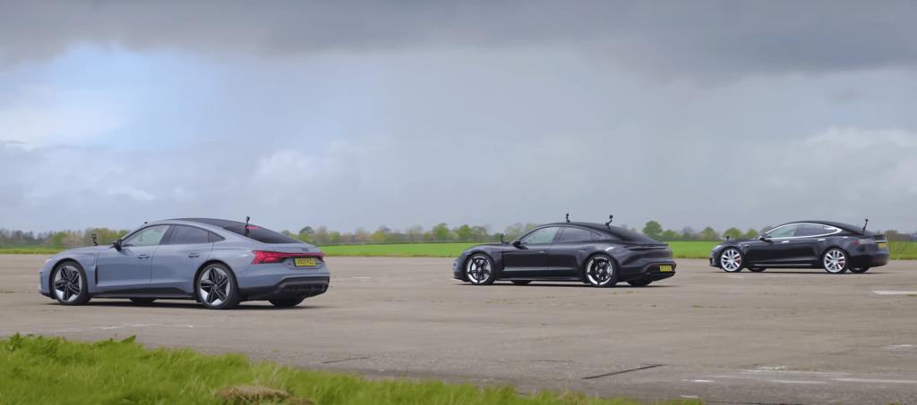 Jak poradzi sobie Porsche Taycan Turbo w pojedynku z Audi RS e-tron oraz Teslą Model S?