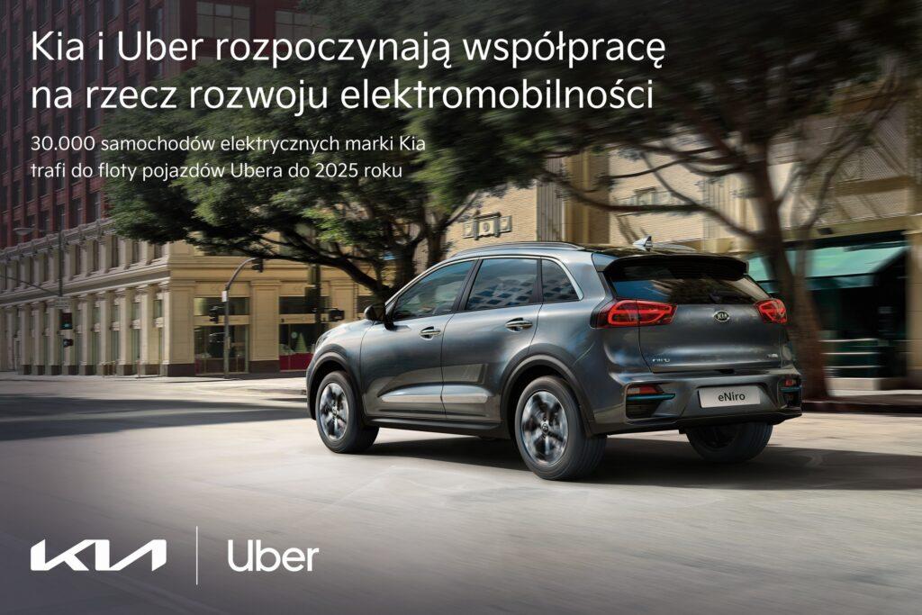 Kia Europe nawiązuje współpracę z Uber na rzecz rozwoju elektromobilności
